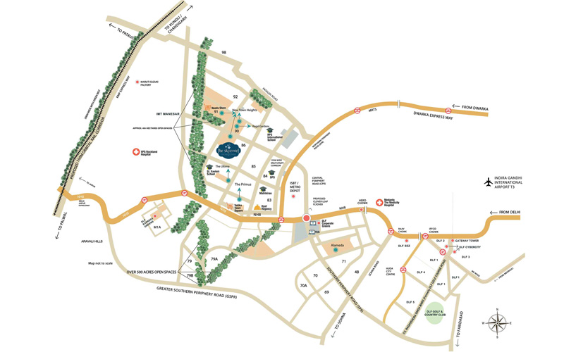 Location Map - DLF New Town Heights Gurgaon
